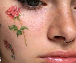 art, flores, and freckles image