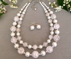 etsy, large pearl necklace, and special occasion image