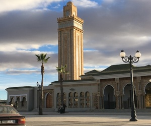 morocco, sun, and mosquee image