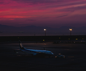 aesthetic, airport, and lights image