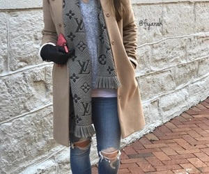 fashion style, beige coat, and girls beautiful image