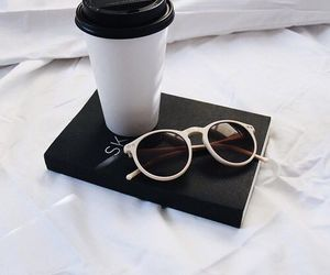 coffee, black, and sunglasses image