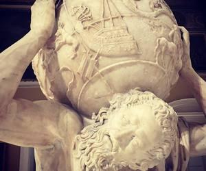 art, atlas, and sculpture image