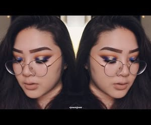 blue, makeup, and subscribe image