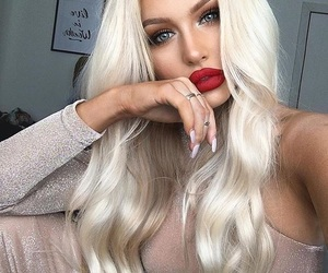 beauty, lip, and blonde image