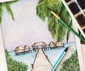 beach and draw image