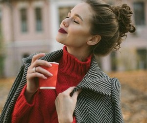 cold, fashion, and red image
