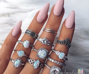 manicure, nail, and ring image