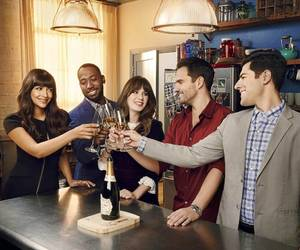 zooey deschanel, max greenfield, and lamorne morris image