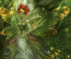 fairy, green, and Queen image
