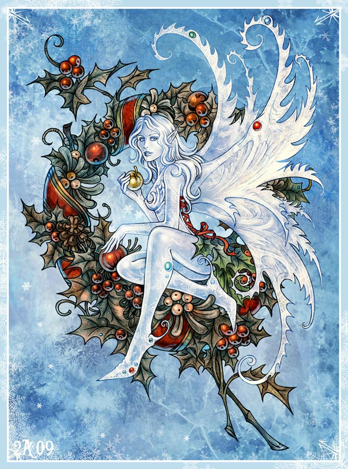 blue, fairy, and ice image