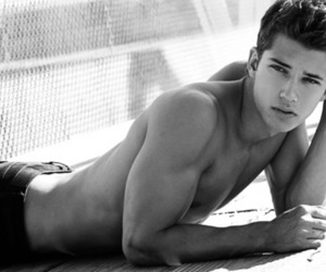 black and white, male model, and male models image