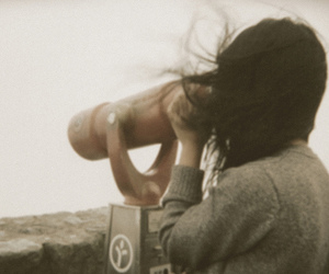 girl, wind, and photography image