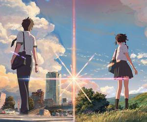 anime, your name, and miki okudera image