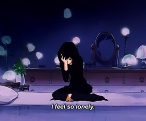 anime, aesthetic, and lonely image