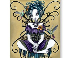 fairy, gothic, and purple image