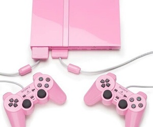 pink, playstation, and game image
