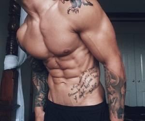 guy, Hot, and tattoo image