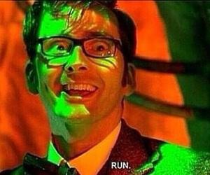 doctor who, david tennant, and run image