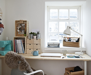 desk, home, and study image
