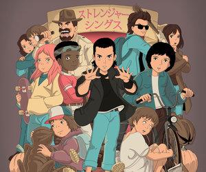 stranger things, anime, and dibujo image
