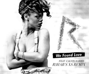 rihanna, songs, and we found love image