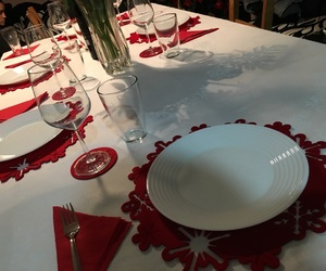 decoration, christmas eve, and dinner image