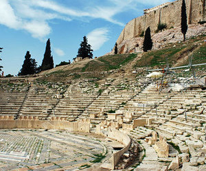 Athens, Greece, and theatre of dionysus image