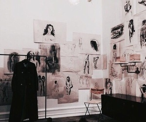art, beige, and gallery image