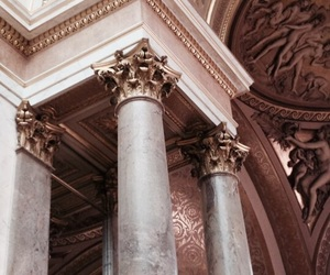 architecture, rosegold, and dusty pink image