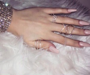 nails, jewelry, and pink image