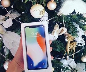 apple, christmas, and iphone image