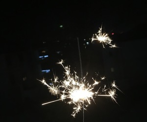 fire works, tumblr, and glitters image