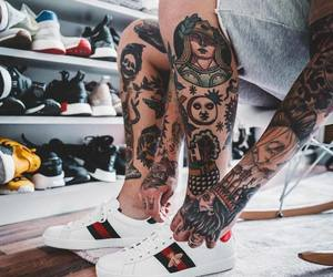 baskets, sneakers, and tatoo image
