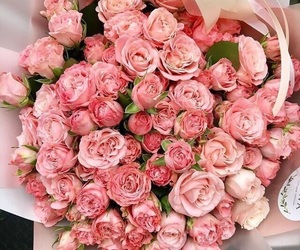 beautiful, bouquet, and lightpink image