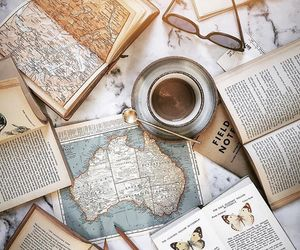 book, maps, and books image
