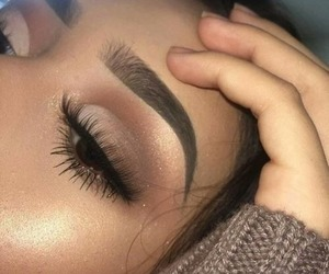 makeup, beauty, and eyshadow image