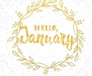 gold, january, and hello image