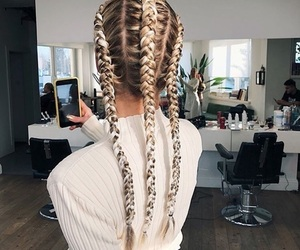 braided hair, goals, and hairstyle image
