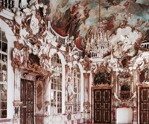 artwork, castle, and elegance image