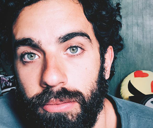 beard, green eyes, and handsome image