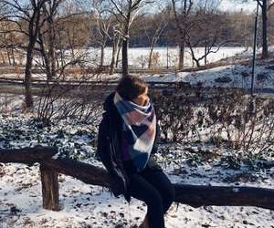Central Park, cozy, and fashion image