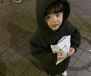 baby cute, korean, and street image