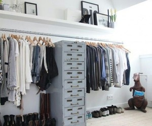 clothes, apartment, and closet image