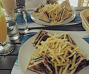 coffee, delicious, and fries image