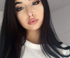 beauty, lipstick, and brown image