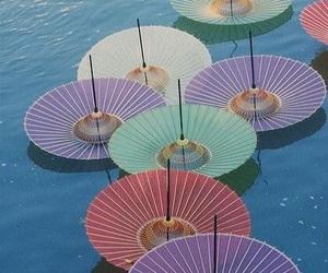 umbrella, japan, and colorful image