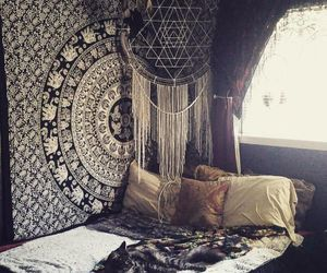 bedroom, bohemian, and home image