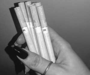blackandwhite, photography, and cigarettes image