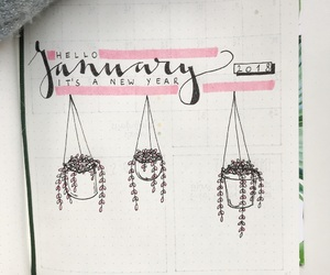 doodle, january, and journal image